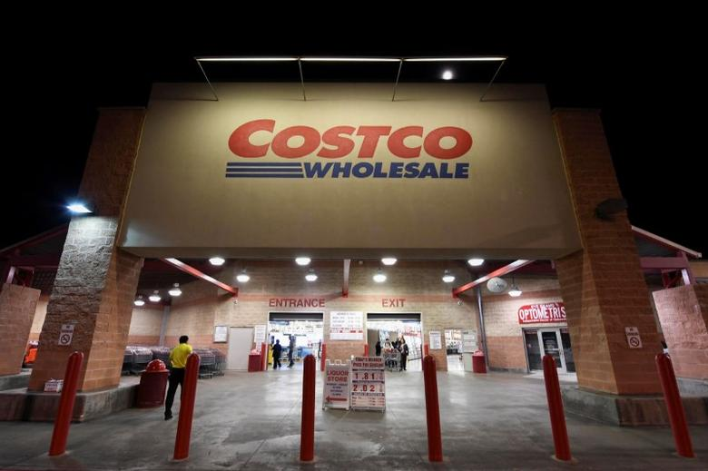 FILE PHOTO: A Costco Wholesale retail club is photographed in Austin, Texas, U.S. on December 12, 2016.  REUTERS/Mohammad Khursheed/File Photo