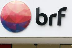 Logo da empresa de alimentos BRF em São Paulo. 17/03/2017 REUTERS/Paulo Whitaker