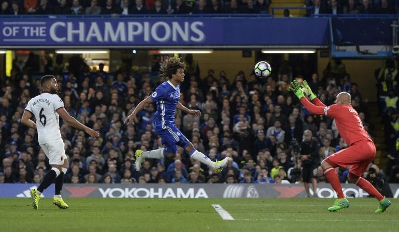 Britain Football Soccer - Chelsea v Watford - Premier League - Stamford Bridge - 15/5/17 Chelsea's Nathan Ake misses a chance to score  Reuters / Hannah McKay