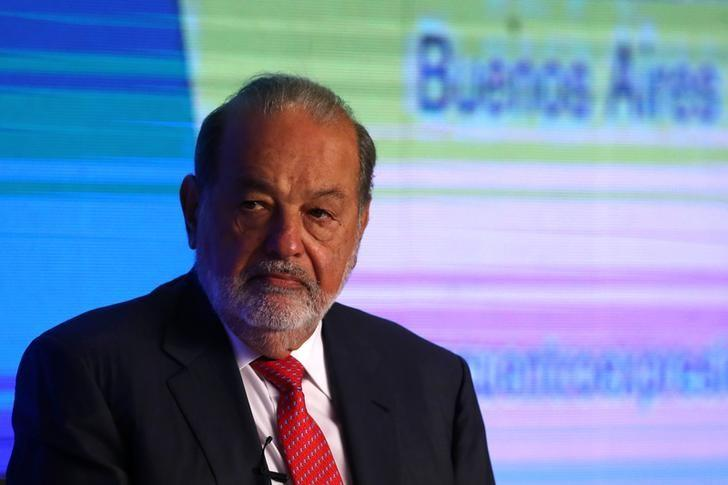 Mexican billionaire Carlos Slim attends a conference of the Circulo de Montevideo Foundation and Former President's Summit in Buenos Aires, Argentina May 11, 2017. REUTERS/Marcos Brindicci
