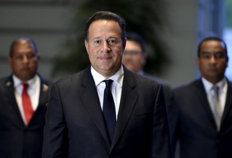 FILE PHOTO: Panama's President Juan Carlos Varela arrives at Japanese Prime Minister Shinzo Abe's official residence in Tokyo, Japan, 20 April 2016. REUTERS/Franck Robichon/Pool/ File Photo