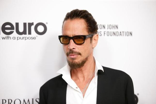 FILE PICTURE: Musician Chris Cornell poses at Elton John's 70th Birthday and 50-Year Songwriting Partnership with Bernie Taupin benefiting the Elton John AIDS Foundation and the UCLA Hammer Museum at RED Studios Hollywood in Los Angeles, California, U.S. March 25, 2017. REUTERS/Danny Moloshok