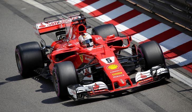 Formula One - F1 - Monaco Grand Prix - Monaco - 27/05/2017 - Ferrari's Sebastian Vettel in action during the third free practice session. REUTERS/Max Rossi