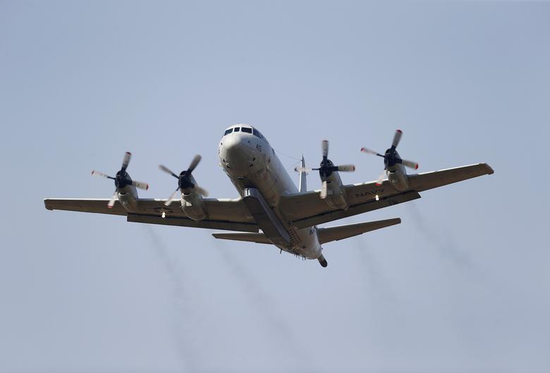 FILE PHOTO --  A U.S. Navy P-3 Orion maritime patrol aircraft takes off from Incirlik airbase in the southern city of Adana, Turkey, August 3, 2015. REUTERS/Umit Bektas/File Photo