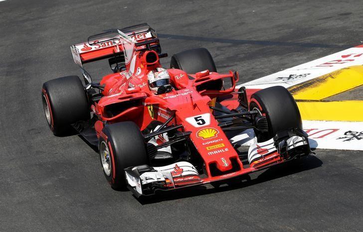 Formula One - F1 - Monaco Grand Prix 2017  - Circuit de Monaco, Monte Carlo  - 28/5/17Ferrari's Sebastian Vettel in action during the raceReuters / Max Rossi