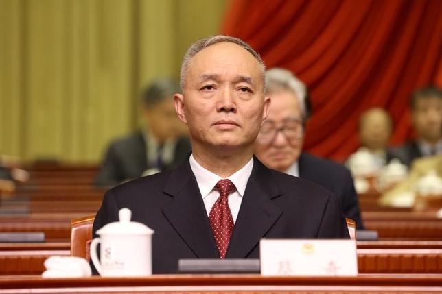5月27日、中国の北京市長を務める蔡奇氏(写真)が、市トップの共産党委員会書記に任命された。写真は北京で撮1月12日撮影(2017年 ロイター)