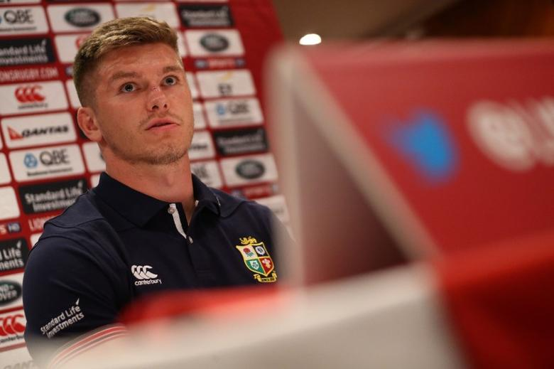British and Irish Lions player Owen Farrell speaks at a press conference in London, Britain May 28, 2017. REUTERS/Neil Hall