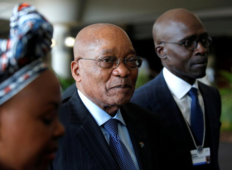 South African President Jacob Zuma tours the World Economic Forum on Africa meeting in Durban, South Africa, May 3, 2017. REUTERS/Rogan Ward