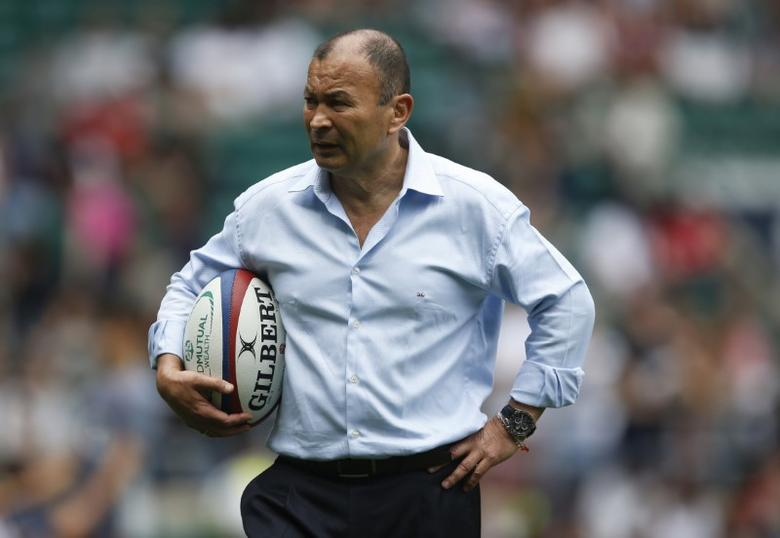 Britain Rugby Union - England XV v Barbarians - Twickenham Stadium  - 28/5/17 England coach Eddie Jones on the pitch before the match  Action Images via Reuters / Matthew Childs Livepic