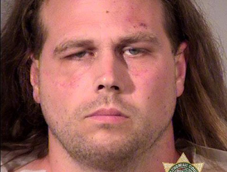 Jeremy Joseph Christian, 35, of North Portland, Oregon is pictured in this undated handout photo obtained by Reuters May 27, 2017.  Portland Police Bureau/Handout via REUTERS