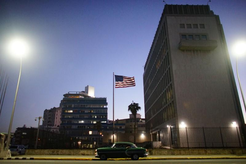 Trump administration nearing completion of cuba policy review sources a vintage car passes by in front of the us embassy in havana cuba january 12 2017 reutersalexandre meneghini publicscrutiny Images