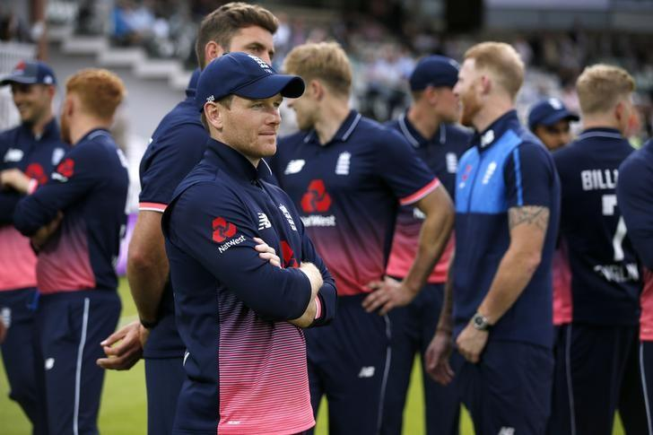 Britain Cricket - England v South Africa - Third One Day International - Lord's - 29/5/17 England's Eoin Morgan before the presentation after winning the series Action Images via Reuters / Andrew Couldridge Livepic