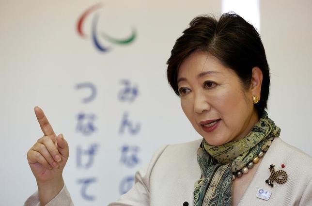 5月30日、小池百合子東京都知事はロイターとのインタビューで、7月の東京都議会議員選では加速度的に改革を進めるために必要な議席数が欲しいと述べ、都民ファーストの会公認、推薦、選挙協力を行う候補を合わせ、過半数を獲得することに強い意欲を示した。写真は都内で29日撮影(2017年 ロイター/Kim Kyung Hoon)