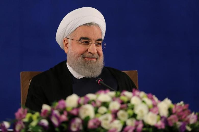 Iranian president Hassan Rouhani attends a news conference in Tehran, Iran, May 22, 2017. TIMA via REUTERS