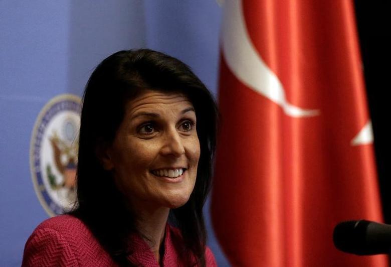 U.S. Ambassador to the United Nations Nikki Haley  in Ankara, Turkey, May 23, 2017. REUTERS/Burhan Ozbilici/Pool