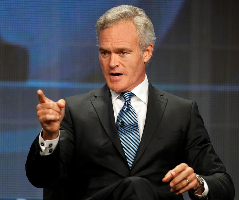 FILE PHOTO: Scott Pelley, anchor and managing editor CBS Evening News, speaks at the CBS Television Network's 2011 Summer Television Critics Association Press Tour in Beverly Hills, California August 3, 2011.  REUTERS/Fred Prouser/File Photo