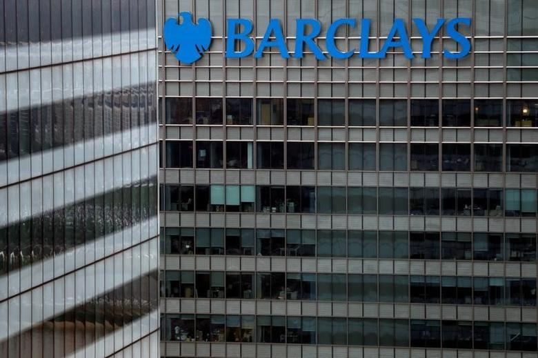 A Barclays bank building is seen at Canary Wharf in London, Britain May 17, 2017. REUTERS/Stefan Wermuth - RTX366NF