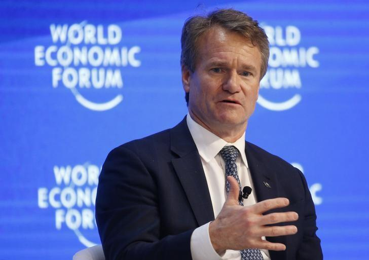 Brian Moynihan, CEO of Bank of America Corporation, attends the World Economic Forum (WEF) annual meeting in Davos, Switzerland January 20, 2017.  REUTERS/Ruben Sprich