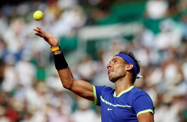 Tennis - French Open - Roland Garros, Paris, France - 31/5/17  Spain's Rafael Nadal in action during his second round match against Netherlands' Robin Haase Reuters / Benoit Tessier