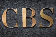 FILE PHOTO: The CBS television network logo is seen outside their offices on 6th avenue in New York, U.S. on May 19, 2016.   REUTERS/Shannon Stapleton/File Photo
