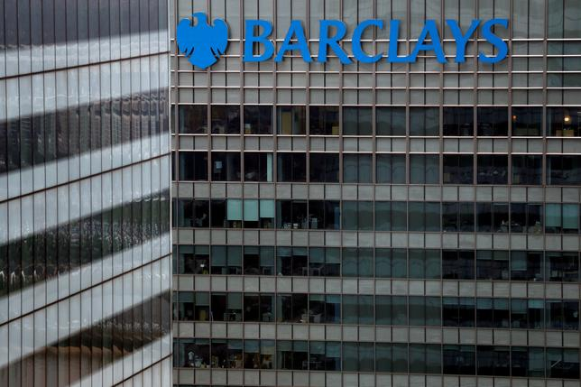 A Barclays bank building is seen at Canary Wharf in London, Britain May 17, 2017. REUTERS/Stefan Wermuth