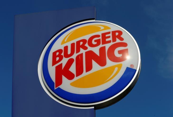 The logo of U.S. fast food group Burger King is seen at a restaurant in Bruettisellen, Switzerland October 11, 2016.  REUTERS/Arnd Wiegmann/Files