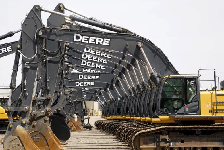 Equipment for sale is seen at a John Deere dealer in Denver May 14, 2015..  REUTERS/Rick Wilking