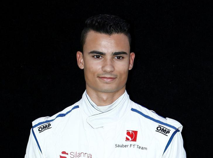 FILE PHOTO: Formula One - F1 - Australian Grand Prix - Melbourne, Australia - 23/03/2017 Sauber driver Pascal Wehrlein of Germany poses during the driver portrait session at the first race of the year.     REUTERS/Brandon Malone/File Photo