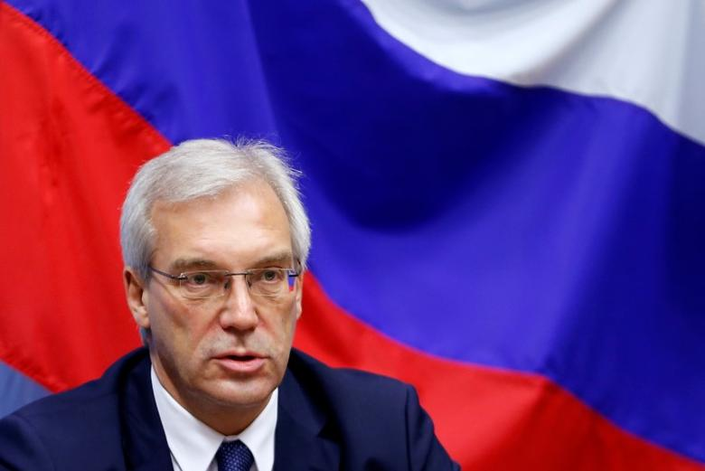 Russian ambassador to NATO Alexander Grushko addresses a news conference after the NATO-Russia Council at the Alliance headquarters in Brussels, Belgium, July 13, 2016.    REUTERS/Francois Lenoir