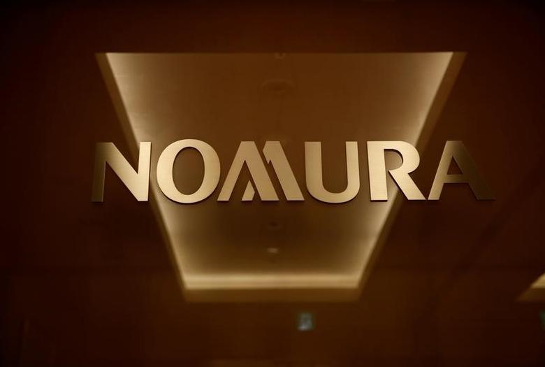 The logo of Nomura Securities is pictured at the company's Otemachi Head Office in Tokyo, Japan, November 18, 2016. Picture taken November 18, 2016.     REUTERS/Toru Hanai