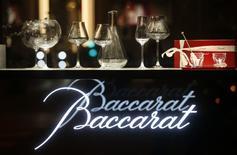 Il logo di Baccarat Crystalworks a Parigi.   REUTERS/Jacky Naegelen