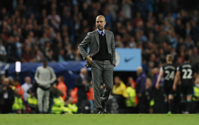 Britain Football Soccer - Manchester City v West Bromwich Albion - Premier League - Etihad Stadium - 16/5/17 Manchester City manager Pep Guardiola after the match  Action Images via Reuters / Jason Cairnduff Livepic