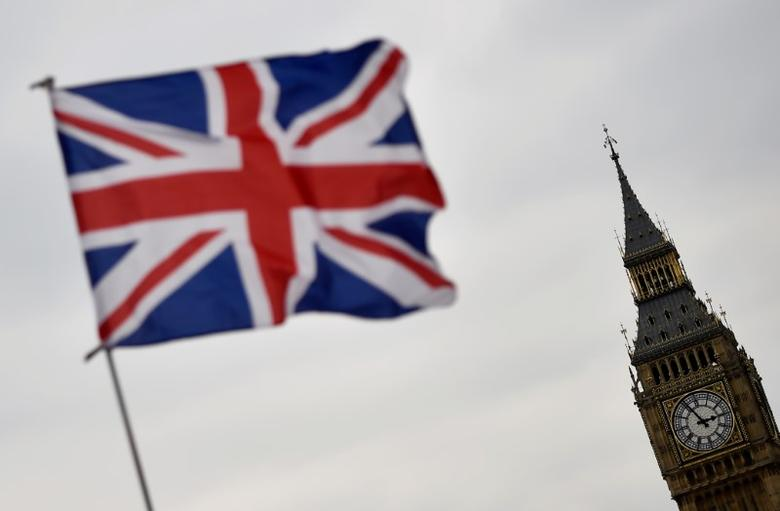 The Union flag flies infront of the Big Ben clock tower in London, Britain, April 20, 2017. REUTERS/Hannah McKay