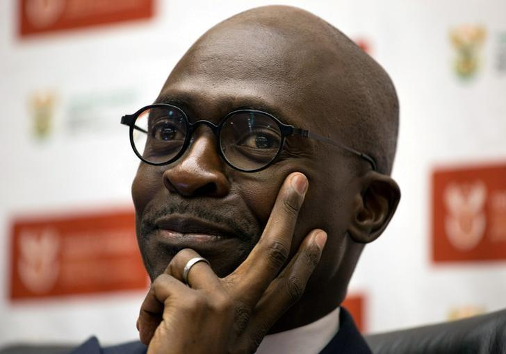 South Africa's Finance Minister Malusi Gigaba addresses a news conference in Pretoria, South Africa, April 4, 2017.   REUTERS/James Oatway/Files