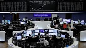 Un'immagine della Borsa di Francoforte.   REUTERS/Staff/Remote