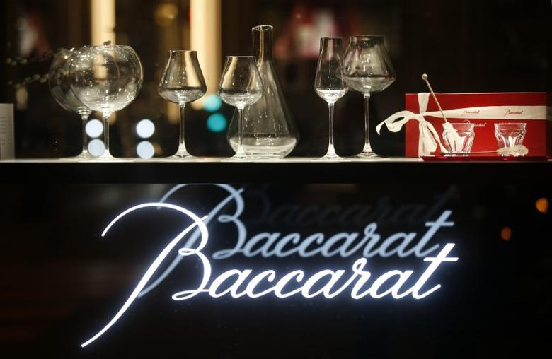 The logo of the Baccarat Crystalworks firm is seen in Paris, France, March 3, 2016.   REUTERS/Jacky Naegelen