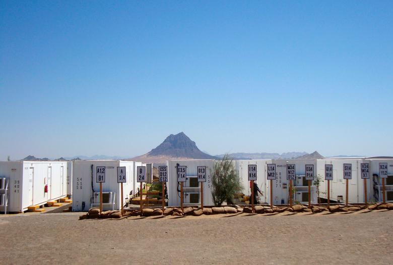 FILE PHOTO: Empty trailers for housing workers at the site of the gold and copper mine exploration project of Tethyan Copper Company (TCC) are seen in this undated photo in Reko Diq, in Balochistan, Pakistan. REUTERS/Faisal Aziz/File Photo
