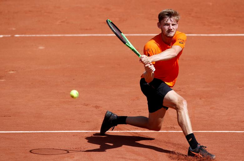 Tennis - French Open - Roland Garros, Paris, France - 31/5/17  Belgium's David Goffin in action during his second round match against Ukraine's Sergiy Stakhovsky   Reuters / Christian Hartmann