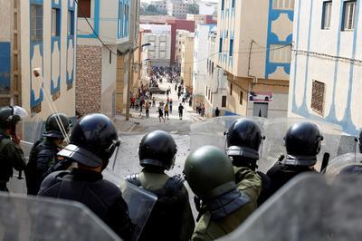 Rare protests rock Morocco