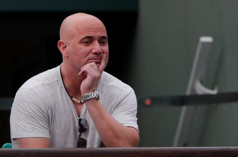 Tennis - French Open - Roland Garros, Paris, France - June 2, 2017 Andre Agassi coach of Serbia's Novak Djokovic looks on Reuters / Gonzalo Fuentes