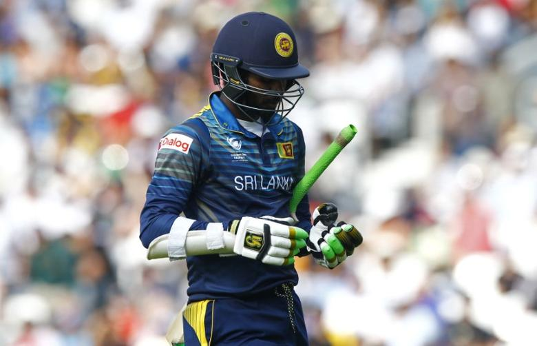 Britain Cricket - Sri Lanka v South Africa - 2017 ICC Champions Trophy Group B - The Oval - June 3, 2017 Sri Lanka's Upul Tharanga walks off after being dismissed Action Images via Reuters / Peter Cziborra Livepic