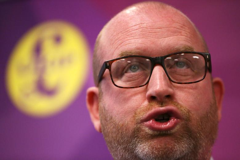 Paul Nuttall, the leader of Britain's United Kingdom Independence Party (UKIP) attends a policy launch in London, May 8, 2017. REUTERS/Neil Hall