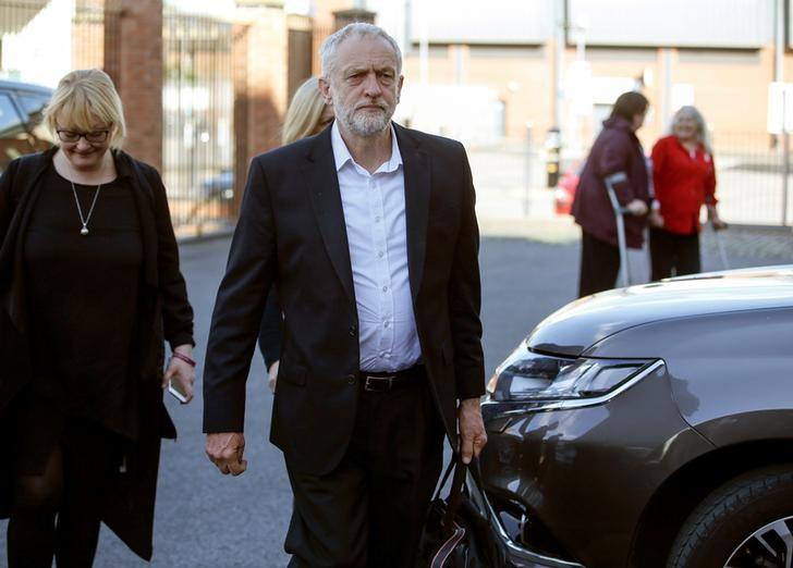 Jeremy Corbyn, the leader of Britain's opposition Labour Party, arrives to deliver a speech in Carlisle, England, Britain June 4, 2017.  REUTERS/Andrew Yates