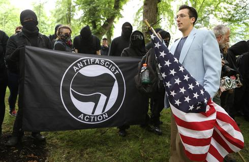 Trump supporters confront counter-protests in Portland