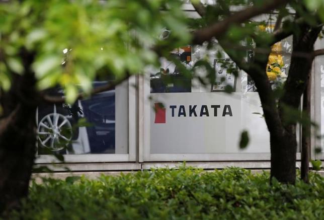 6月5日、米連邦裁判所の判事は、自動車部品大手タカタが欠陥エアバッグ問題に絡んで支払う補償金約10億ドルの基金について、著名弁護士のケネス・ファインバーグ氏に監督を任せる可能性がある。写真は同社のロゴ。都内で昨年5月撮影(2017年 ロイター/Toru Hanai)