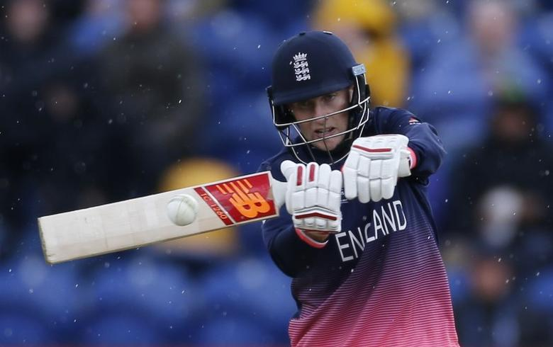 Britain Cricket - England v New Zealand - 2017 ICC Champions Trophy Group A - Sophia Gardens, Wales - June 6, 2017 England's Joe Root in action  Action Images via Reuters / Paul Childs Livepic