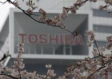 Logo da Toshiba na sede da empresa em Tóquio 11/04/2017 REUTERS/Toru Hanai