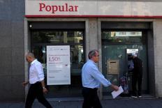Una filiale di Banco Popular a Madrid. REUTERS/Juan Medina