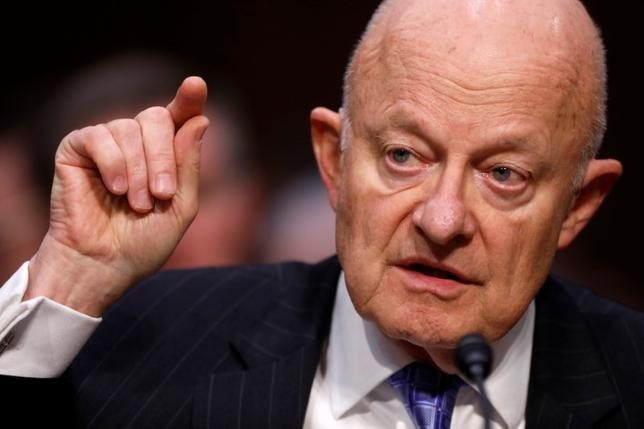 Former Director of National Intelligence James Clapper testifies about potential Russian interference in the presidential election before the Senate Judiciary Committee on Capitol Hill, Washington, D.C., U.S. May 8, 2017.  REUTERS/Aaron P. Bernstein/Files