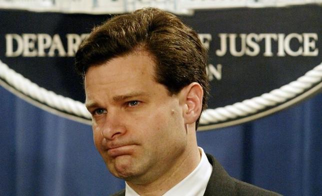 6月7日、トランプ米大統領は、FBI長官に元司法次官補のクリストファー・レイ氏(写真)を指名する考えを明らかにした。ワシントンで2003年11月撮影(2017年 ロイター/Molly Riley)